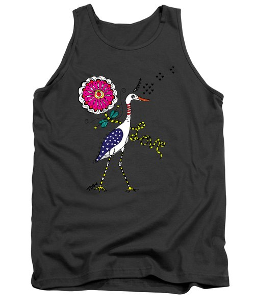 Weak Coffee Lovebird Tank Top by Tara Griffin
