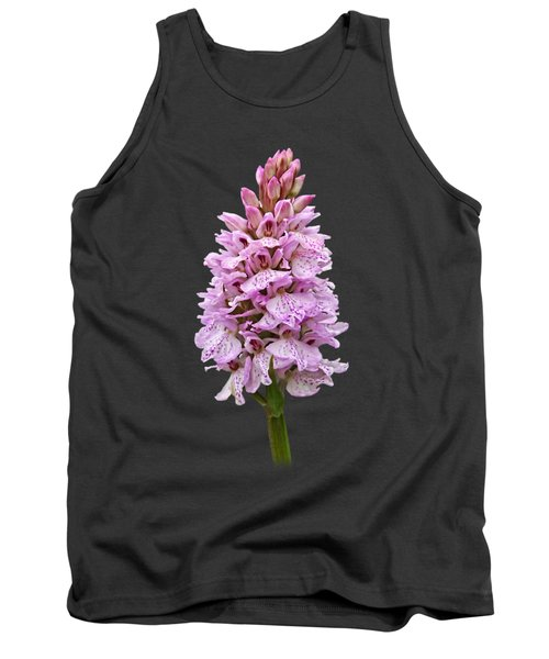 Wild Pink Spotted Orchid Tank Top by Gill Billington