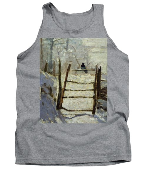 The Magpie Tank Top by Claude Monet