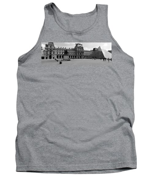 Tourists In The Courtyard Of A Museum Tank Top by Panoramic Images