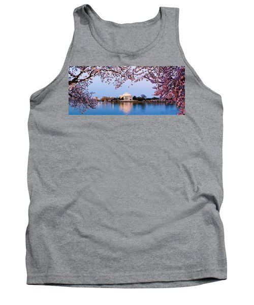 Cherry Blossom Tree With A Memorial Tank Top by Panoramic Images