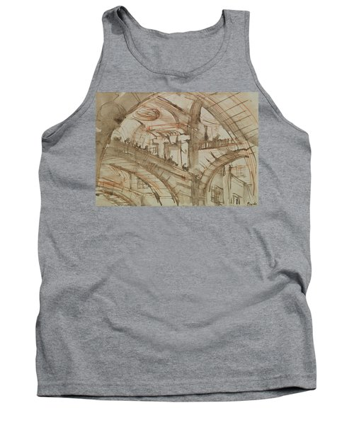 Drawing Of An Imaginary Prison Tank Top by Giovanni Battista Piranesi