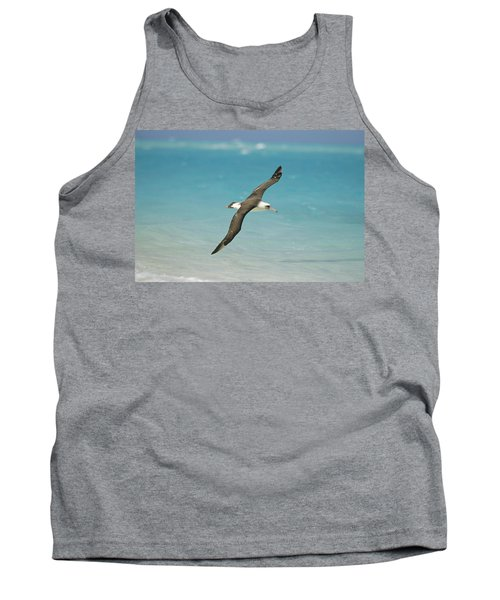 Laysan Albatross Flying Midway Atoll Tank Top by Tui De Roy