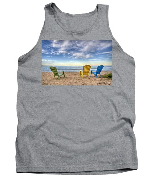 3 Chairs Tank Top by Scott Norris