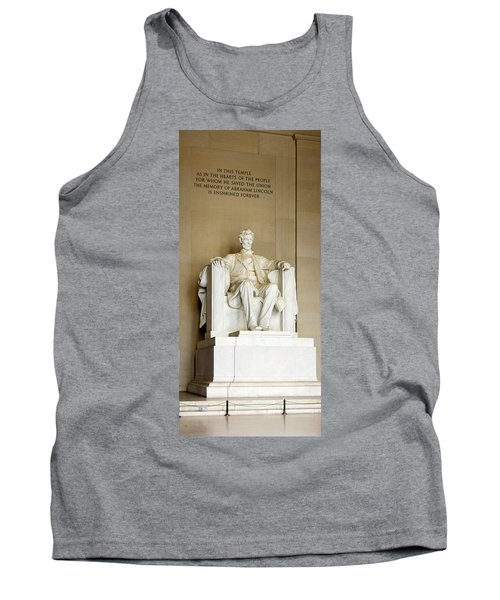 Abraham Lincolns Statue In A Memorial Tank Top by Panoramic Images