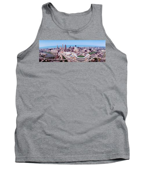 Aerial View Of Jacobs Field, Cleveland Tank Top by Panoramic Images