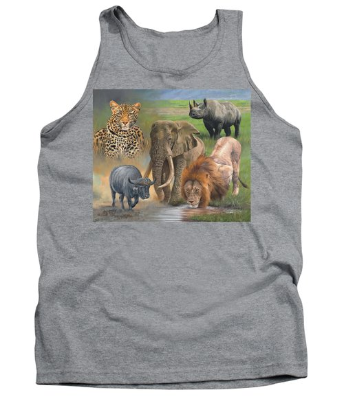 Africa's Big Five Tank Top by David Stribbling