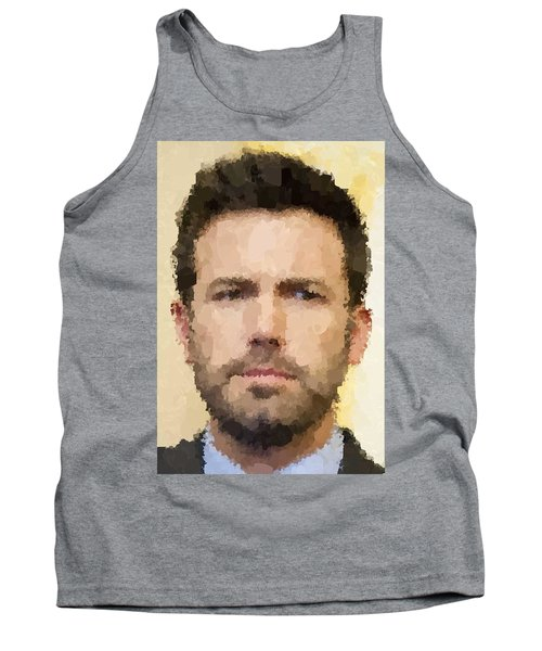 Ben Affleck Portrait Tank Top by Samuel Majcen