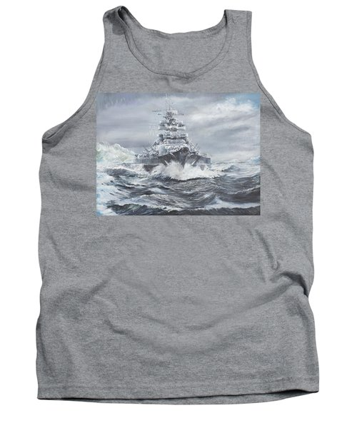 Bismarck Off Greenland Coast  Tank Top by Vincent Alexander Booth