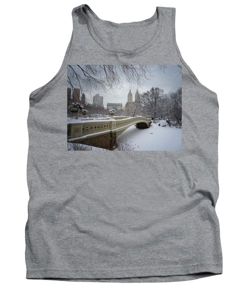 Bow Bridge Central Park In Winter  Tank Top by Vivienne Gucwa