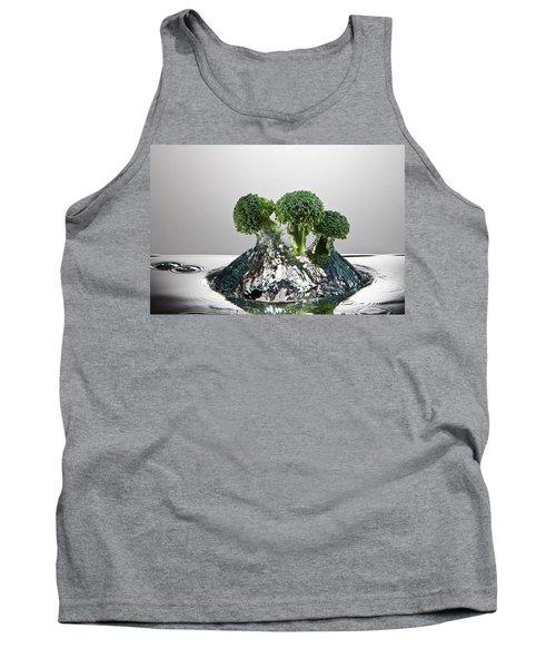 Broccoli Freshsplash Tank Top by Steve Gadomski