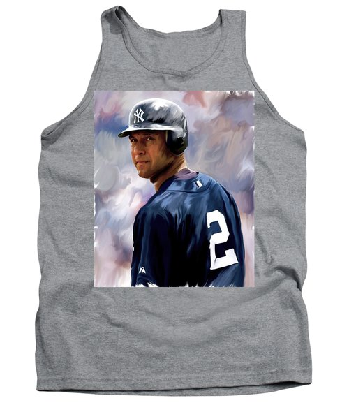 Derek Jeter  Tank Top by Iconic Images Art Gallery David Pucciarelli