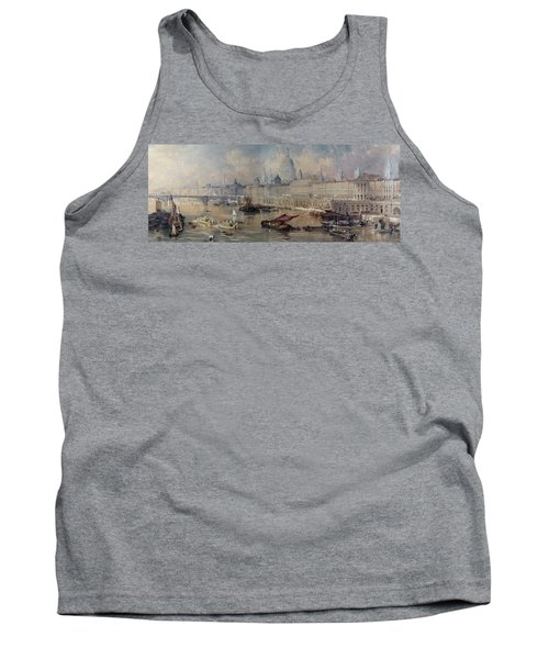 Design For The Thames Embankment Tank Top by Thomas Allom