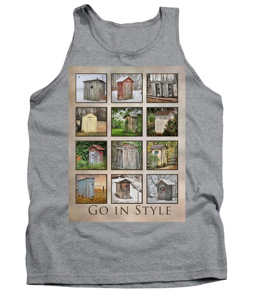 Go In Style - Outhouses Tank Top by Lori Deiter