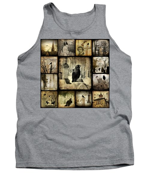 Gothic And Crows Tank Top by Gothicrow Images