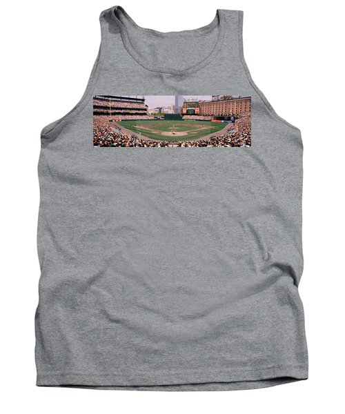 High Angle View Of A Baseball Field Tank Top by Panoramic Images