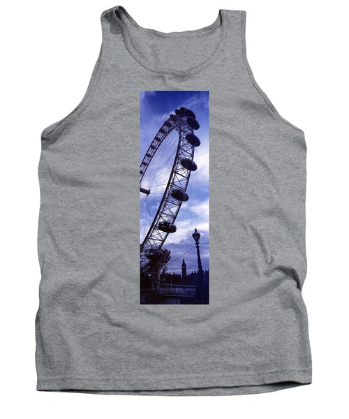 Low Angle View Of The London Eye, Big Tank Top by Panoramic Images