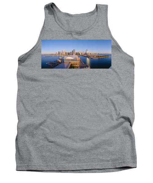 Navy Pier, Chicago, Morning, Illinois Tank Top by Panoramic Images