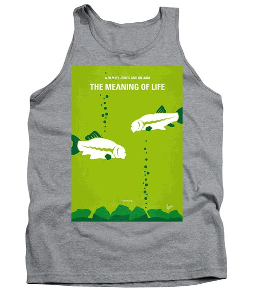 No226 My The Meaning Of Life Minimal Movie Poster Tank Top by Chungkong Art