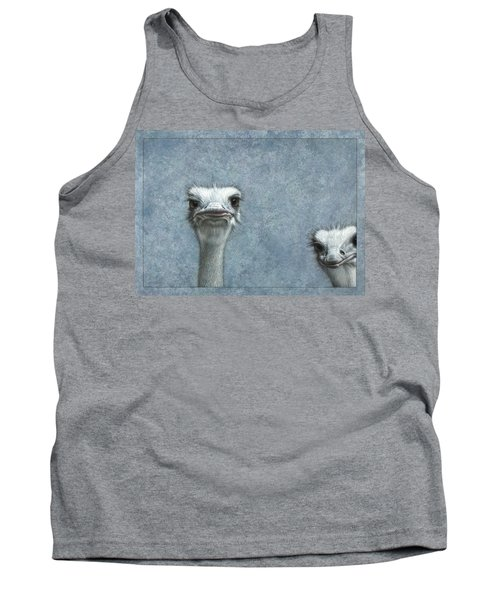 Ostriches Tank Top by James W Johnson