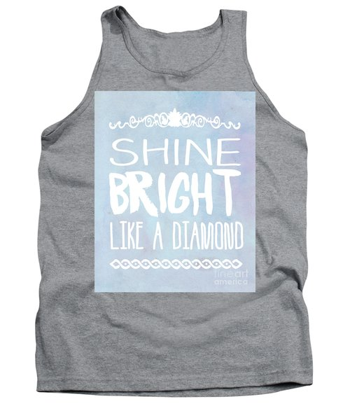 Shine Bright Blue Tank Top by Pati Photography