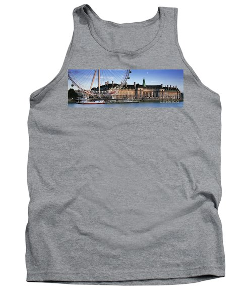 The London Eye And County Hall Tank Top by Rod McLean