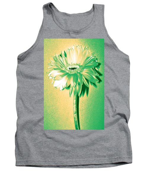 Touch Of Turquoise Zinnia Tank Top by Sherry Allen