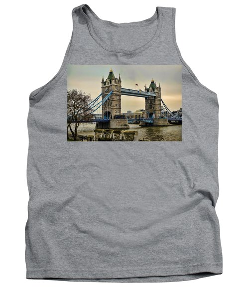 Tower Bridge On The River Thames Tank Top by Heather Applegate