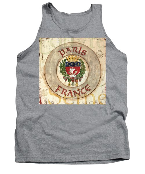 French Coat Of Arms Tank Top by Debbie DeWitt
