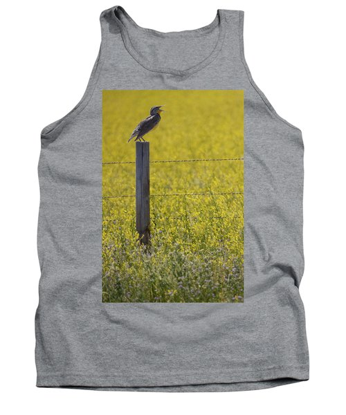 Meadowlark Singing Tank Top by Randall Nyhof