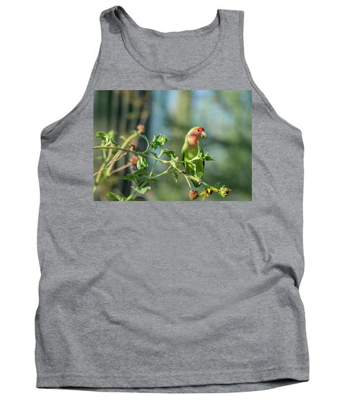 Lovely Little Lovebird  Tank Top by Saija Lehtonen