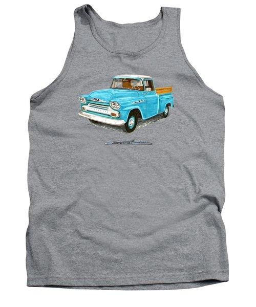 1958 Chevrolet Apache Pick Up Tank Top by Jack Pumphrey