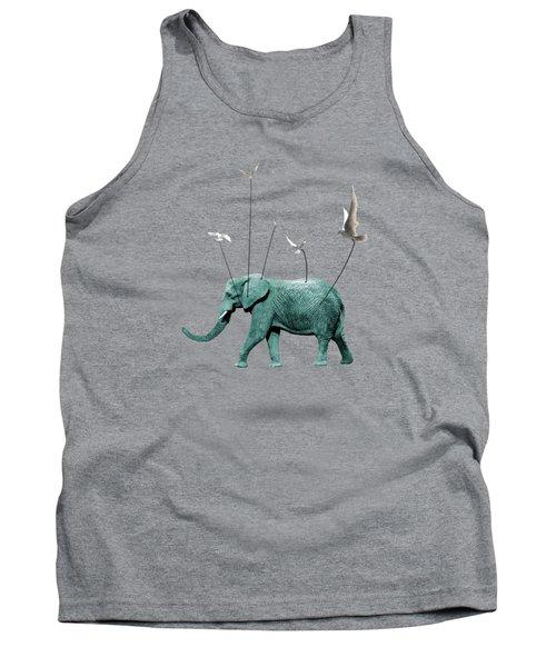 Elephant Tank Top by Mark Ashkenazi