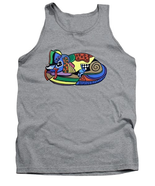 A Dog Named Picasso T-shirt Tank Top by Anthony Falbo