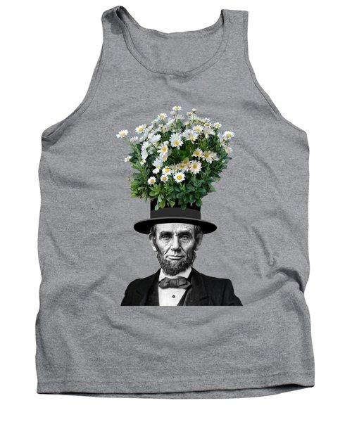 Abraham Lincoln Presidential Daisies Tank Top by Garaga Designs
