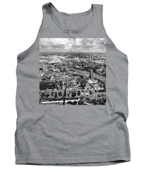Aerial View Of London Tank Top by Mark Rogan