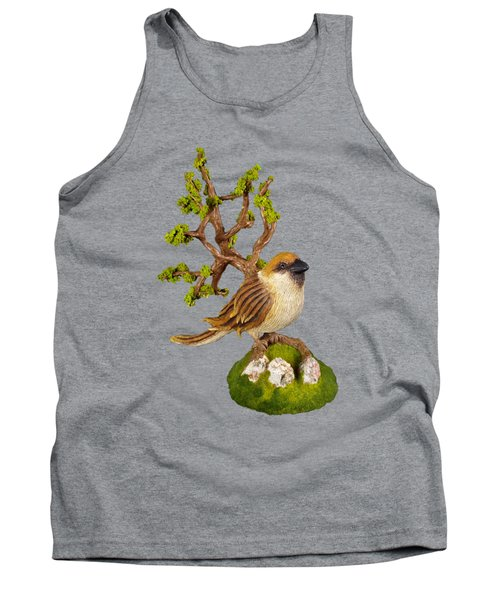 Arborescent Sparrow Tank Top by Przemyslaw Stanuch