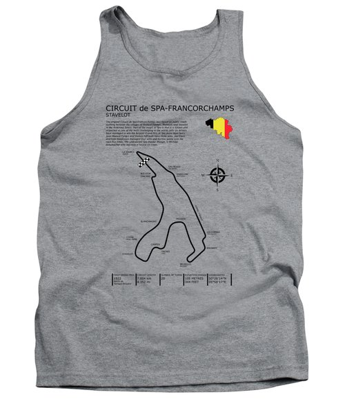 Spa Francorchamps Tank Top by Mark Rogan
