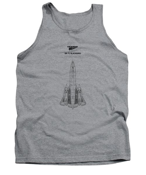 Sr-71 Blackbird Tank Top by Mark Rogan