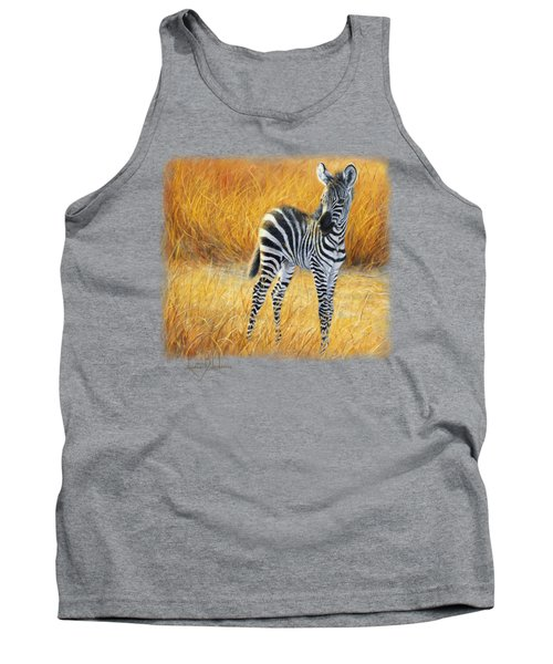 Baby Zebra Tank Top by Lucie Bilodeau