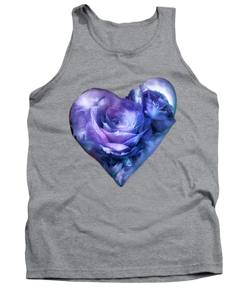 Heart Of A Rose - Lavender Blue Tank Top by Carol Cavalaris