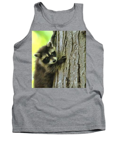Baby Raccoon In A Tree Tank Top by Dan Sproul