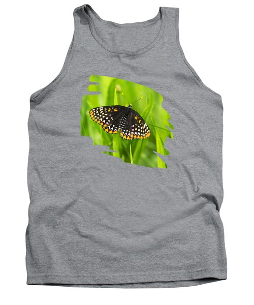 Baltimore Checkerspot Butterfly Tank Top by Christina Rollo