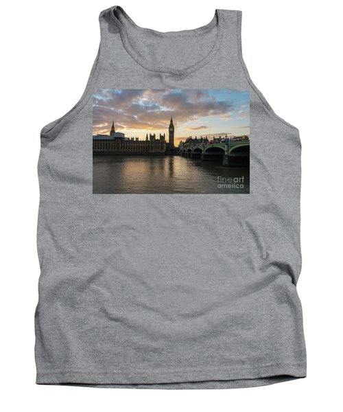 Big Ben London Sunset Tank Top by Mike Reid