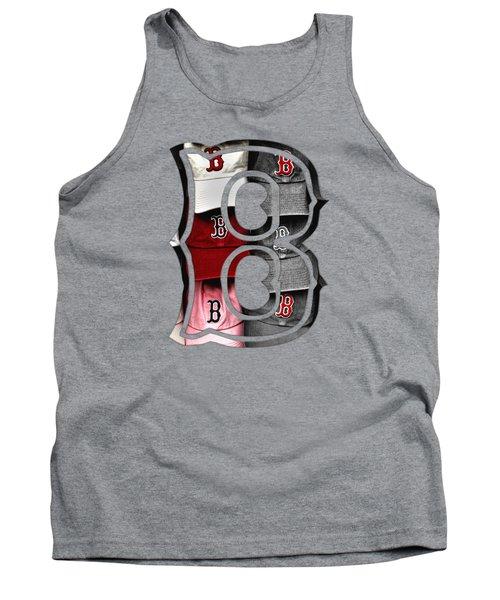 Boston Red Sox B Logo Tank Top by Joann Vitali