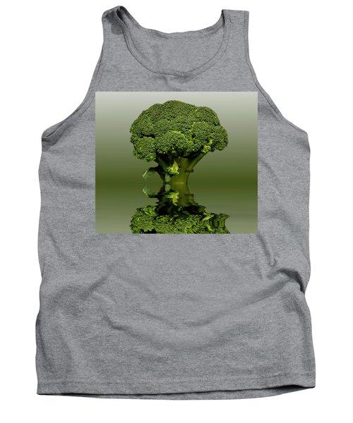 Broccoli Green Veg Tank Top by David French
