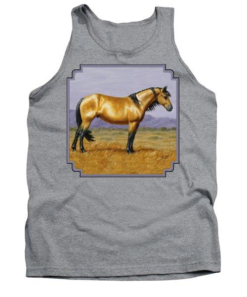 Buckskin Mustang Stallion Tank Top by Crista Forest