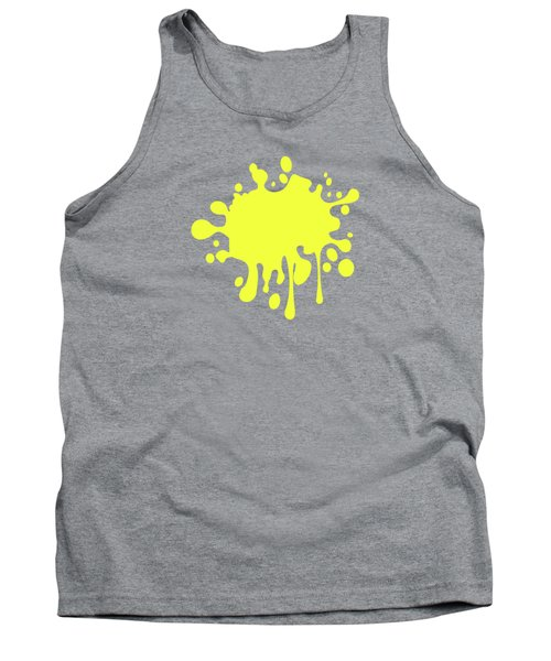 Canary Yellow Solid Color Decor Tank Top by Garaga Designs