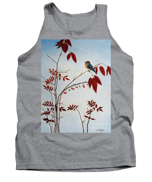 Cedar Waxwing Tank Top by Laura Tasheiko