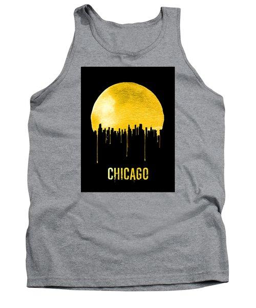 Chicago Skyline Yellow Tank Top by Naxart Studio